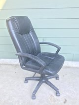 Large black office chair - rolling with arm rests in Houston, Texas