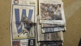 Cubs World Series Chicago Tribune in Westmont, Illinois