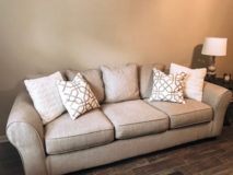 Baxley Sofa, Baxley Oversized Chair w/ Ottoman, Wood Coffee Table & Round End Table in Fort Campbell, Kentucky