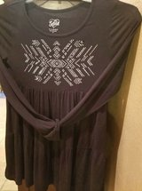"""$6.00 Girls Size 12 JUSTICE Black Top/Dress Bling Design  Bust 30"""" without stretch - Length 26"""" ... in Leesville, Louisiana"""