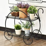 Heavy Duty Metal Flower Cart Pot Rack Plant Display Stand Holder Decor - Black in Ramstein, Germany