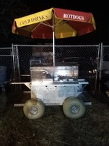 hotdog/taco cart in Cherry Point, North Carolina