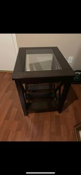 Side Table with Glass Top in Kingwood, Texas