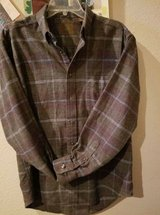 "$5.00 Mens Medium St John Bay Plaid Shirt NEW Nice Browns, Blues & Red  Chest 46"" - Length 26""  ... in Leesville, Louisiana"