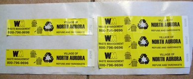 North Aurora Garbage Stickers in Oswego, Illinois