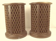 Pair of Rare Vintage Pioneer CS-05 Omnidirectional round end table speakers in Chicago, Illinois