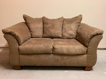 Mocha Suede Couch in Kingwood, Texas