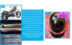 Assorted motorcycle items in Fort Rucker, Alabama
