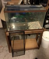 30 Gallon Fish/Reptile Tank w/Stand and Glass top and Screen top in Camp Lejeune, North Carolina