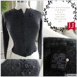 Gray Wool Cardigan with Beads in The Woodlands, Texas