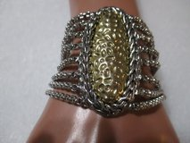 SILVER AND GOLD TONE BRACELET NWT in Houston, Texas