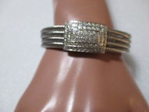 NWT SILVER AND RHINESTONE CUFF BRACELET in Houston, Texas