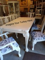 solid Ash hardwood claw foot dining table & 6 chairs in Cherry Point, North Carolina