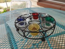Candle table set in Alamogordo, New Mexico