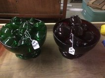 Punchbowl sets (ruby red and green). in Fort Polk, Louisiana