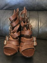 Size 7.5 Brown Heels (Mossimo) in Fort Campbell, Kentucky