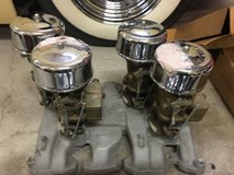 Nos edelbrock manifold with 4 nos 97 carbs in Bolingbrook, Illinois