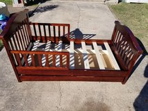 Cherry Wood Toddler Bed with Storge in Spring, Texas