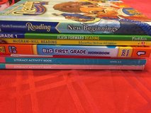 Lot of 7 workbooks literacy and math 1st Grade in Naperville, Illinois