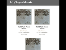 "Gorgeous marble 11.5 by 10"". Lily vogue marble mosaic in Glendale Heights, Illinois"