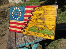 Large Patriotic Betsy Ross 1776 Gadsden Rustic Wood Flag in Alamogordo, New Mexico