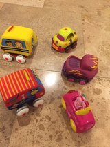 lot of 5 baby toddler small cars in Naperville, Illinois