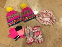 Lot of girls hats and gloves in Lockport, Illinois