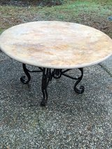 "54"" Round Pink Marble Dining Table in Kingwood, Texas"
