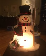 Lighted Snowman in Sugar Grove, Illinois