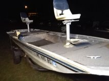 16ft Landeu aluminum boat and trailer in Cherry Point, North Carolina