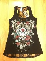Liberty Wear Devilish Black Lace Back Tank Top 7582 Women's Size SM in Bolingbrook, Illinois