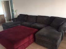 Broyhill living room couch and ottoman in Wiesbaden, GE