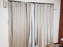 Curtains Two Sets, One Set Comes With 4 Pieces, Block Sun Very Well, Just 4 Month Old in Okinawa, Japan