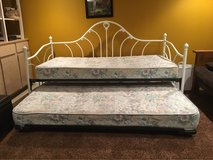 day bed with trundle and mattresses in Lockport, Illinois