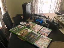 Xbox 360 bundle: 8 games, 4 remotes, double charger, console, Kinect + in Plainfield, Illinois