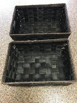 2 WOVEN SQUARE BASKETS in Fort Sam Houston, Texas