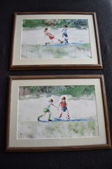 Two Framed Children's Soccer Prints in Plainfield, Illinois