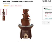 Chocolate fountain in Vista, California