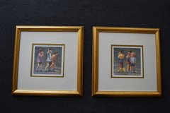 Pair of Framed Children's Soccer Prints in Lockport, Illinois