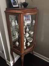 Curved Glass Front Curio Cabinet in Bolingbrook, Illinois