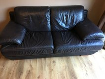 3 seater leather look sofa in Lakenheath, UK