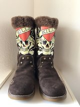 Ed Hardy boots size 7 in Ramstein, Germany