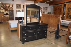 Black Dresser with Mirror in Fort Lewis, Washington