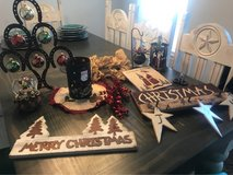 large lot of rustic Christmas decor in Spring, Texas