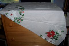 Christmas table cloth in The Woodlands, Texas