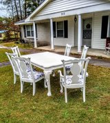 Claw and ball hardwood dining set in Cherry Point, North Carolina