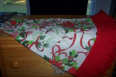 Cloth Round Christmas Table Cloth in Conroe, Texas