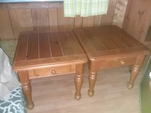All wood end tables in Camp Lejeune, North Carolina