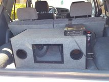 "Speaker Box W/10"" Pioneer Subs, Amp, Capacitor in Travis AFB, California"