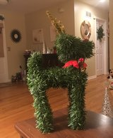 Large Green Reindeer in Plainfield, Illinois